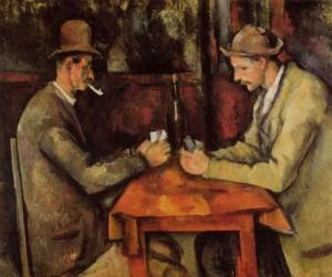 セザンヌ『カード遊びをする人々』
